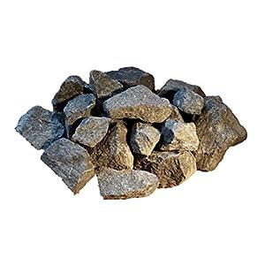 Der Naturstein Garten 100 kg Deutsche Basalt Saunasteine 5-8 cm – Sauna Aufguss Steine – Lieferung Kostenlos