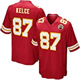 Majestic Athletic NFL Football Kansas City Chiefs 87# Kelce T-Shirt Jersey Bequem und Atmungsaktiv Trikot,red,S