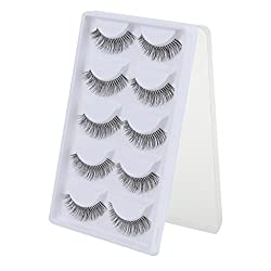 Imported 5 Pairs Cotton Stalk Natural Long False Eyelashes Eye Lashes Makeup ...-54001475MG