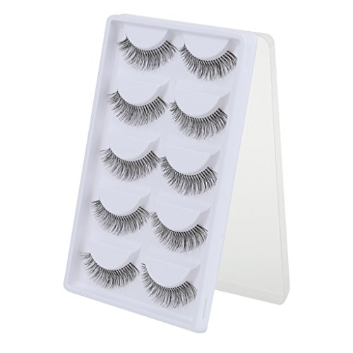 Imported 5 Pairs Cotton Stalk Natural Long False Eyelashes Eye Lashes Makeup ...-54001475MG