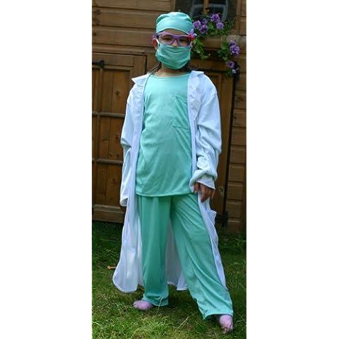 Fun Play Disfraz de Doctor para niños 4-6 años (110 CM)