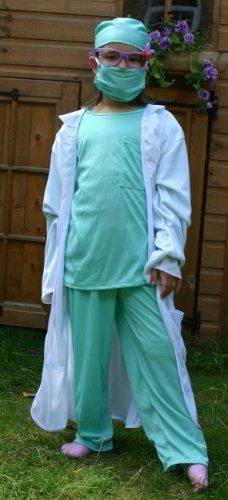 Fun Play Kinder Verkleidung Arzt Kostüm für kids 7-9 Jahre (130 (Arzt 9 Kostüm)