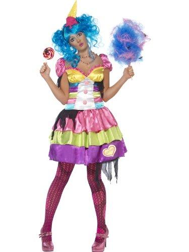 Damenkostüm Kostüm für Damen Gluttony Sieben Todsünden 7 Seven Deadly Sins ' Großes Mädchen ' Völlerei bunt Halloweenkostüm Halloween Fasching Karneval Gr. 36/38 (S), 40/42 (M), 44/46 (L), Größe:L (Deadly Dames Kostüm)