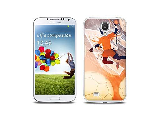 etuo Handyhülle für Samsung Galaxy S4 - Hülle, Silikon, Gummi Schutzhülle - Handball