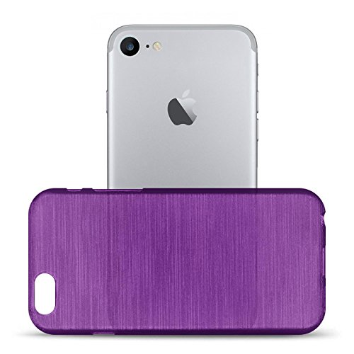 iPhone 7 Silikon Hülle, Conie Mobile Brushed Case Schlanke Schutzhülle TPU Handyhülle Backcover Rückschale in Blau Lila