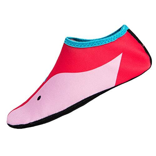 Malloom-Bekleidung Kinder Schwimmen Tauchen Socken Outdoor Wassersport Scratche rutschfeste Schuhe Seaside (Socke Kompressor)