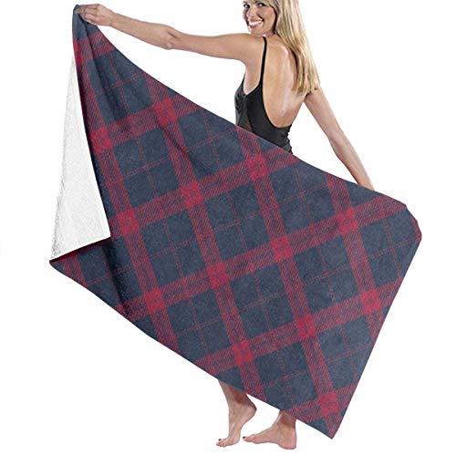 xcvgcxcvasda Serviette de bain, Fashion Plaid Check Personalized Custom Women Men Quick Dry Lightweight Beach & Bath Blanket Great for Beach Trips, Pool, Swimming and Camping 31