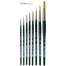"Da Vinci 1570 Serie - hochwertiges Aquarell-Pinsel-8er Set ""NOVA-Synthetik"" no.10/0, 5/0, 3/0, 2/0, 0 ,2 ,6, 12."