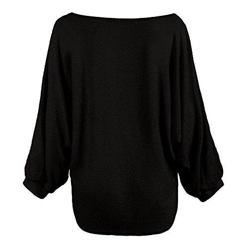 (iHENGH Vorweihnachtliche Karnevalsaktion Damen Herbst Winter Bequem Lässig Mode Frauen übergroße Batwing Strickpullover Loose Sweater)
