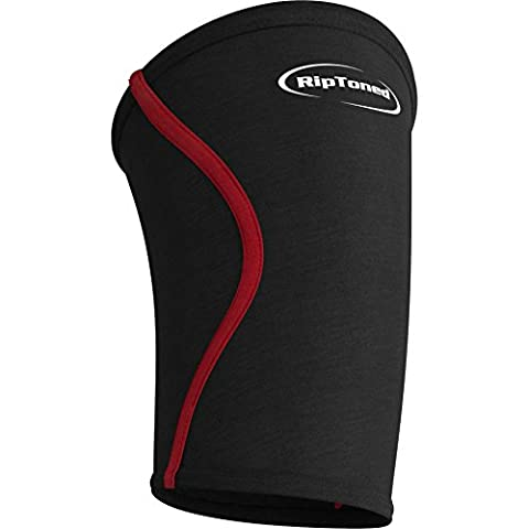 Elbow Sleeve By Rip Toned - (SINGLE) - Perfect Compression & Support for Weightlifting, Tennis, Golf, & Basketball *Bonus eBook* - Lifetime Replacement Warranty (SEE SIZING GUIDE)