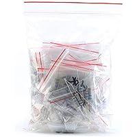 ARCELI 200PCS 20 Valor 1W 10 Ohm - 1M Ohm Resistencia de película de Carbono Surtido de Kits Variedad de tolerancia 5%