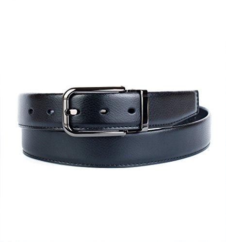 Crown anthoni 3,5 cm ceinture en cuir pour homme noir classique, boucle  ardillon 6dc2caee952