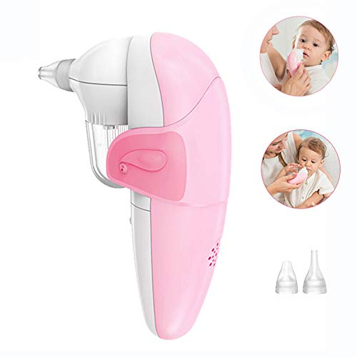 LYXCM Baby-Nasensauger, Bietet eine sichere Nasenabsaugung und reinigt sanft den Schleim des Säuglings Für Neugeborene Werden 2 Größen Silikon-Spitzen-Entferner verwendet