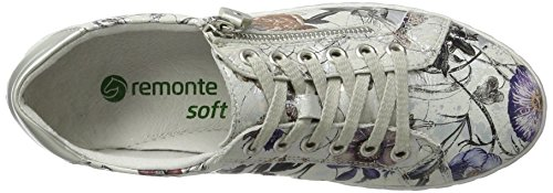 Remonte D5800, Sneakers Basses Femme Multicolore (Offwhite-metallic/silver/90)