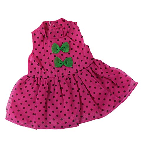 Fenteer Hübsches ärmelloses Prinzessin Puppenkleid mit 2 grünen Schleife für 18 Zoll Mädchen Puppe Kostüm (Hübsche Prinzessin Baby Kostüm)