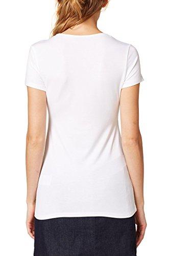 ESPRIT Collection Damen T-Shirt Weiß (White 100)