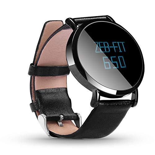 Zebronics Zeb-FIT 650 Fitness Band with Heart Rate Monitoring (Leather- Black)