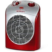 Orbegozo FH 5026 – Calefactor eléctrico compacto 2200 W de potencia, 2 niveles de funcionamiento