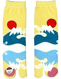 Chaussettes Tabi Japonaise Unisex : Set 1 Importation Direct du Japon (Mont Fuji (富士山))