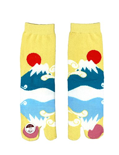 Tabi Shoes Socken, japanisches Design (Mt. Fuji)
