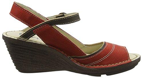 FLY London Damen Shea659fly Wedges Rot (scarlet/khaki 001)