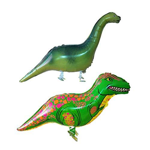 Toyvian Gran Foil Dinosaurio Caminando Animales Globos | Favor de Fiesta Suministros Decoraciones Juguete Infantil, 2 Piezas