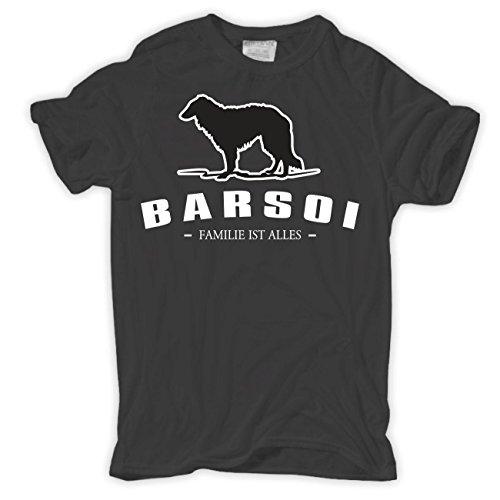Spaß kostet Männer und Herren T-Shirt Barsoi - Familie ist Alles Grau