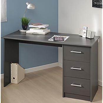 Schreibtisch grau B 121 cm PC Computertisch