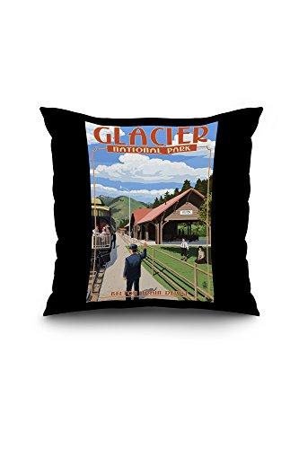 belton-train-depot-west-glacier-montana-18x18-spun-polyester-pillow-case-black-border