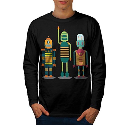 karikatur-roboter-party-kind-spass-herren-neu-schwarz-xxl-langarm-t-shirt-wellcoda