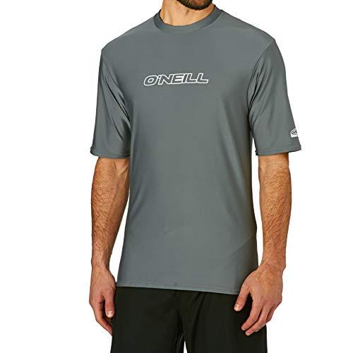 O';Neill Basic Skins Kurzarm Rash T-Shirt Top Smoke - UV-Sonnenschutz und SPF-Eigenschaften
