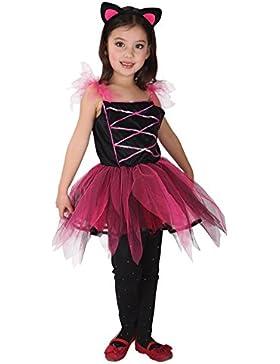 EOZY-Gatto Rosa Vestito da Bambina Costume a Coda Orecchi Cosplay Halloween