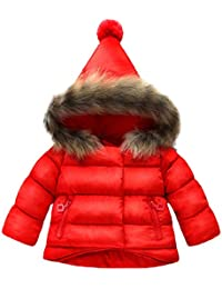 ☺Baumwollmantel Daunenmantel Baby Mädchen Jungen Scherzt Kapuzenjacke Langarmshirt Jacken Mantel Herbst Winter Warme Kinderkleidung