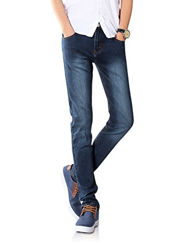 Demon&Hunter 808 Serie Uomo Scheletrico Sottile Jeans DH8048(29)