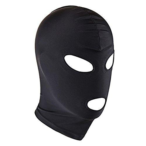 Balaclava 3 Loch Cosplay Maske CS Spielzeug für Paare Halloween Masquerade Masken Kostüme Spandex Schwarz