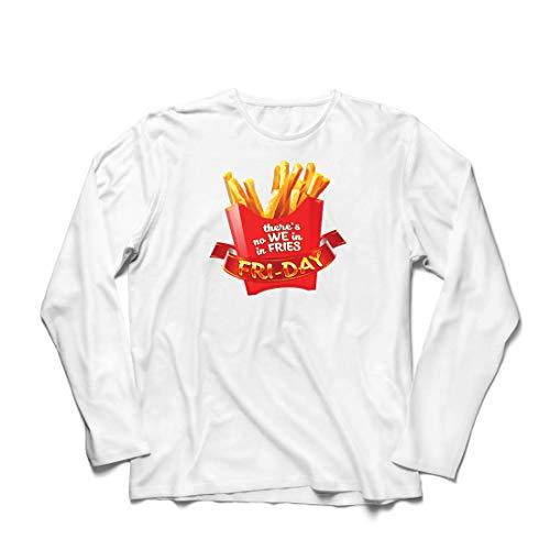 lepni.me Herren T Shirts Es gibt Keine wir in Pommes Freitag Outfit Junk Food Liebhaber (Large Weiß Mehrfarben) (Crossfit Halloween Ideen)