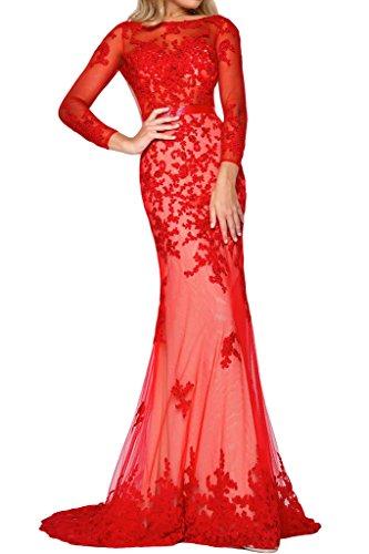 Prom Style Damen Sexy Spitze Ruckenfrei Abendkleider Ballkleider ...