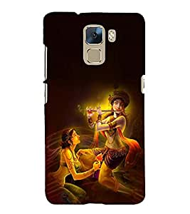 Fuson Premium Back Case Cover Lord RadhaKrishna With Multi Background Degined For Huawei Honor 7