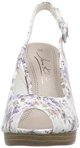 Jane Klain - 296 147, Scarpe col tacco con cinturino a T Donna Multicolore (Mehrfarbig (Grey Multi 299))