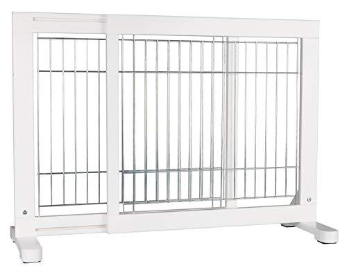 Trixie 39455 Hunde-Absperrgitter, Holz, 65-108 × 61 cm, weiß