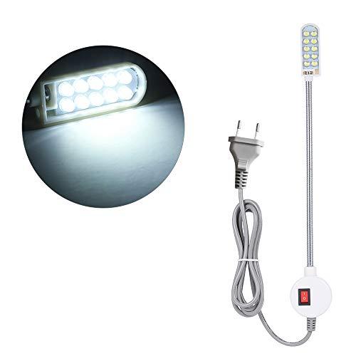 AC110-265v 0.5w 10 LED EU Plug Máquina coser Lámpara