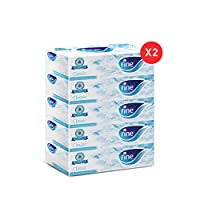 ‏‪FINE Facial Tissues - Pack of 10 Boxes, 150 Sheets x 2 Ply‬‏