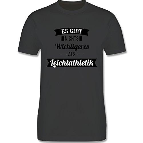 Sonstige Sportarten - Es gibt nichts Wichtigeres als Leichtathletik - Herren Premium T-Shirt Dunkelgrau