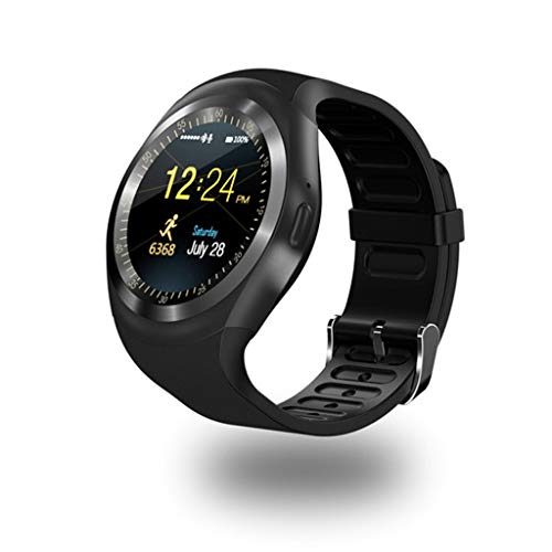 C-Xka Smart Watch, Runde Smartwatch Schrittzähler Fitness Tracker mit SIM TF Karte Kamera Schrittzähler Schlaf Monitor Smart Watch Touch für Frauen Lady Männer Geschenke Kompatibel für IOS Android Sma