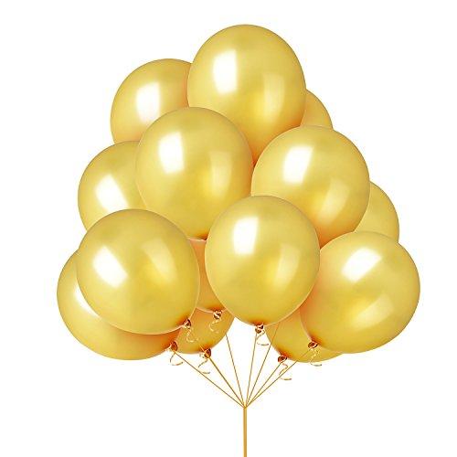 r Helium Ballon Verschiedene helle Farbe Latex Luftballons für Geburtstag Party Dekoration Folie Ballons (50 Geburtstag Kulisse)