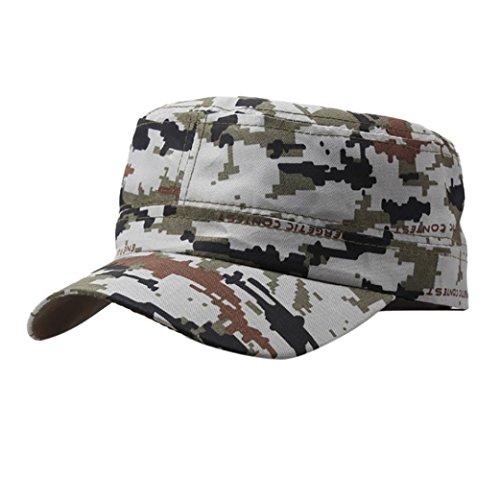 Fuibo Kappe für Herren und Damen, Outdoor Camo Tactical Plain Vintage Armee Military Cadet Stil Cap Hut Einstellbar| Basecap, Baseball Cap, Verstellbar (C) (Hut Cadet Camo)