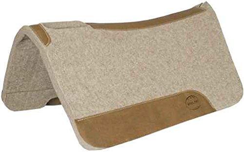 Premium Contoured Wollfilz-PAd 3/4 Inch mit hochwertigem Lederbesatz