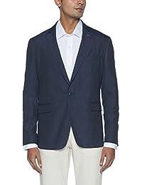 Peter England Men's Notch Lapel Slim Fit Blazer
