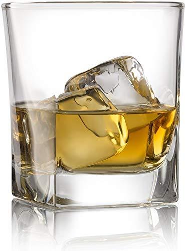 Double Old Fashioned, Scotch-gläser (Whiskyglas Double Old Fashioned mit Granit Chilling Stones - 284 ml Heavy Base Rocks Barware Gläser für Scotch, Bourbon und Cocktailgetränke)