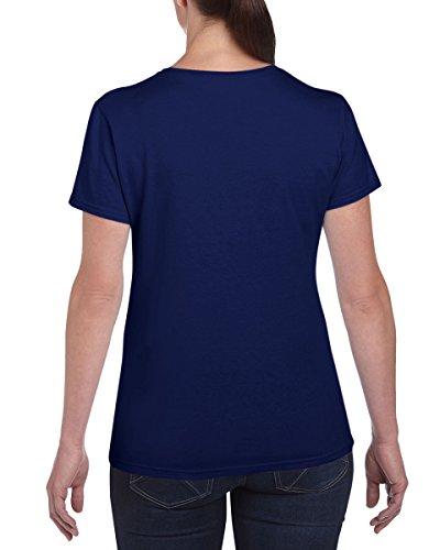 3Stück Gildan Damen Schwere Baumwolle uni T-Shirt Mehrfarbig - Colbat Blue